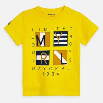 Mayoral - Canary Yellow Short Sleeve T-Shirt