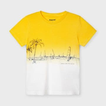 Mayoral - Yellow Dip Dye Palm T-Shirt
