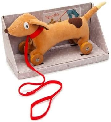 Ragtales - Wooster pull-along dog