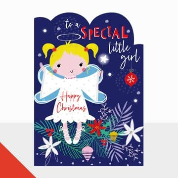 To a Special Little Girl Christmas Card