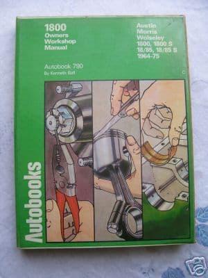 Austin Morris /Wolseley 1800  W/Shop Manual