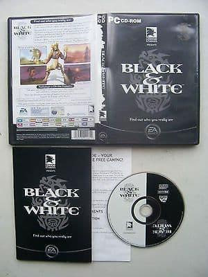 Black and White PC Game Original Release (Rare Black Cover)