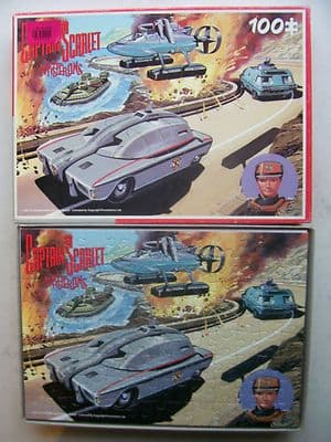 Captain Scarlet and the Mysterons  Vintage 100 Piece Jigsaw  by King