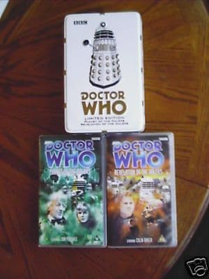 Doctor Who Planet of the Daleks Tin Set  RARE / SEALED