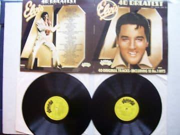 Elvis Presley 40 Greatest Hits  Double LP