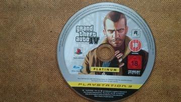 Grand Theft Auto 4 (PS3 2009) Game Disc Platinum Edition