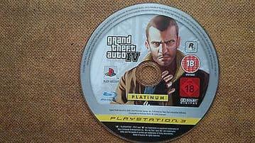 Grand Theft Auto 4 PS3  Game Disc Platinum Edition