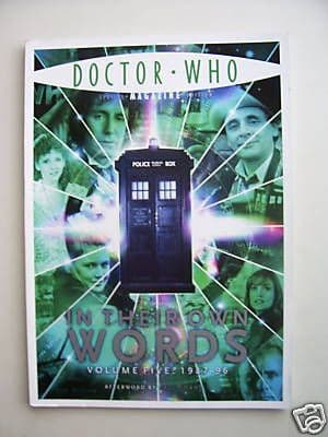 Rare Doctor Who Magazine In Their Own Words Vol Five