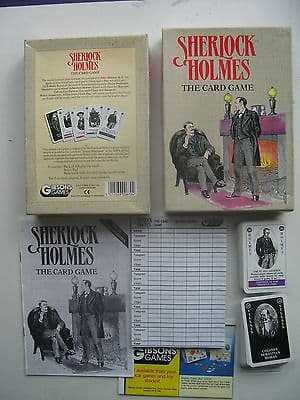 Sherlock Holmes The Card Game by Gibsons 1991