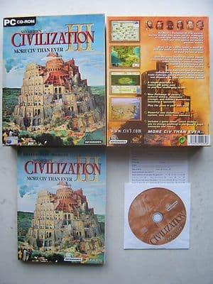 Sid Meier's Civilization 3  PC Big Box Edition RARE