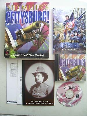 Sid Meier's Gettysburg PC Big Box Edition  By Sierra 1997 Rare