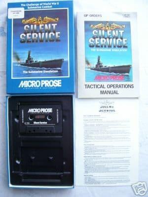 Silent Service   Commodore 64 VERY RARE Classic Game