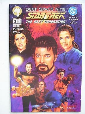 Star Trek The Next Generation Deep Space Nine  DC  Comic Issue 2 Rare