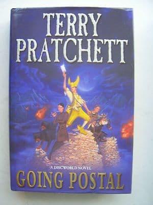 Terry Pratchett Going Postal  A Discworld Novel  Large Hardback Book