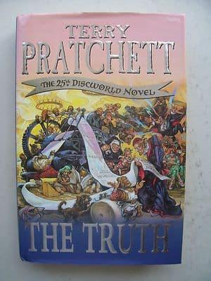 Terry Pratchett The Truth  The 25th Discworld Novel Large Hardback Book
