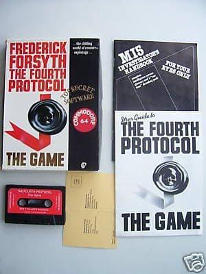 The Fourth Protocol Commodore 64  V.RARE Classic Game