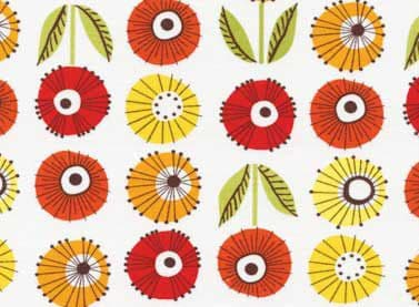 1m Remnant Summer Home Multi Flowers Fabric