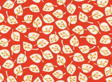 1m Remnant - Summer Home Red Ditsy Leaves Fabric