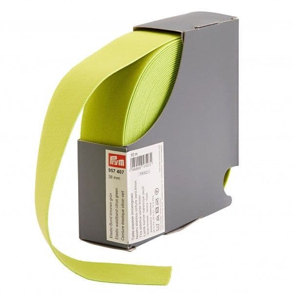 38mm Prym Waistband Elastic - Citrus Green x 1mtr