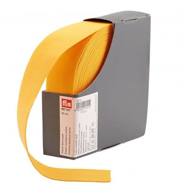 38mm Prym Waistband Elastic - Yellow x 1mtr