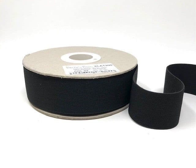 40mm Soft Elastic - Black x 1mtr