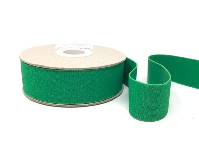 40mm Soft Elastic - Emerald x 1mtr