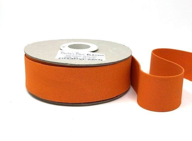 40mm Soft Elastic - Orange x 1mtr