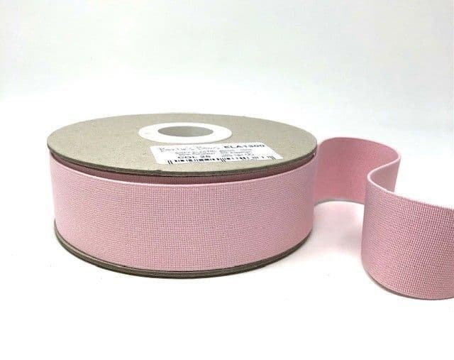 40mm Soft Elastic - Pale Pink x 1mtr
