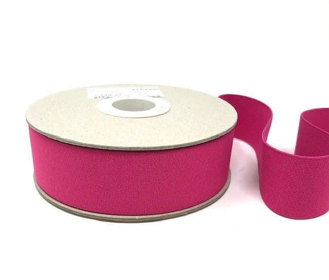 40mm Soft Elastic - Raspberry x 1mtr