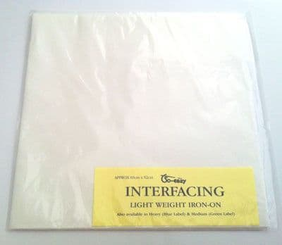 Light weight iron on Interfacing