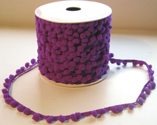 Purple Mini Pom Pom trim