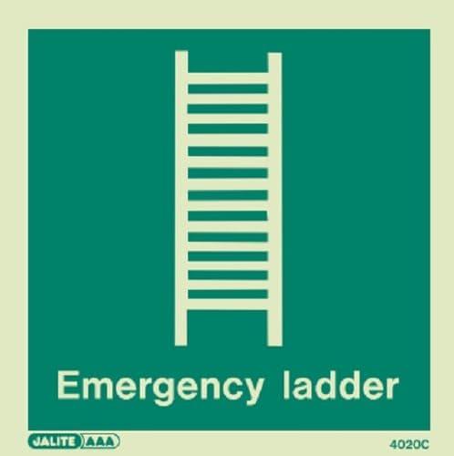 (4020) Emergency Ladder Sign