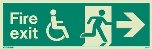 (4034) Jalite Mobility Impaired Fire Exit Right sign