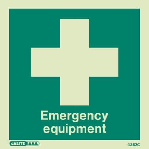 (4362C) Emergency Equipment Sign