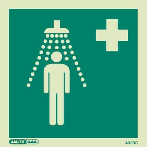 (4389) Emergency Shower Symbol Sign