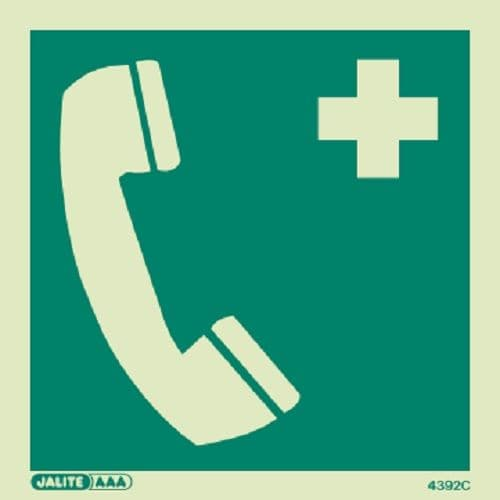 (4392) Emergency Telephone Symbol Sign