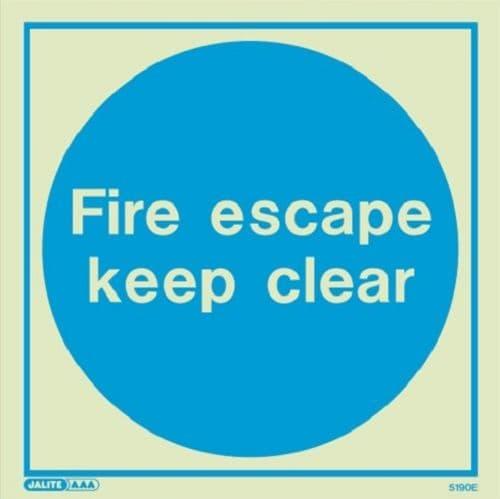 (5190) Jalite Fire escape keep clear