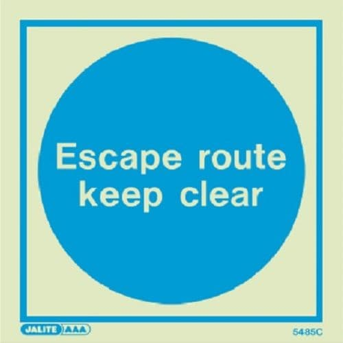 (5485) Jalite Escape route keep clear