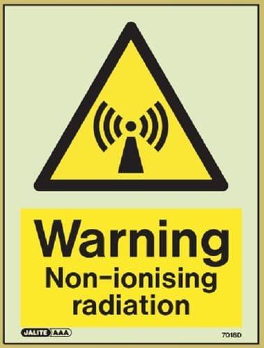 (7018) Jalite Warning Non-Ionising radiation