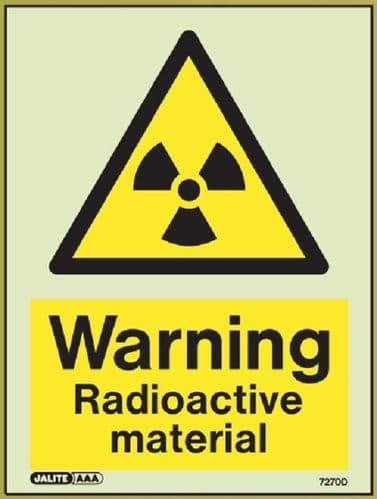 (7270D) Jalite Warning Radioactive material