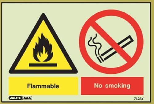 (7428Y) Flammable / No Smoking - *dis-continued*