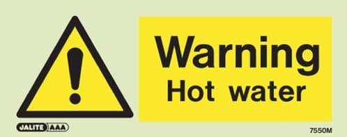 (7550M) Jalite Warning Hot water sign