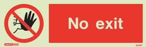 (8120) Jalite No exit sign