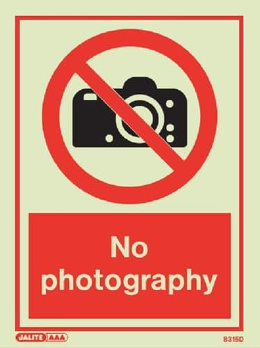 No photography Sign (Jalite 8315)