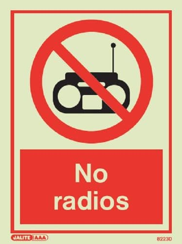 No radios Sign (Jalite 8221)