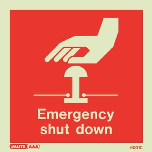 Emergency Shut Down Signs