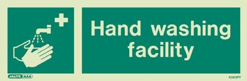 Jalite Hand Wasing Facility Sign (4383)