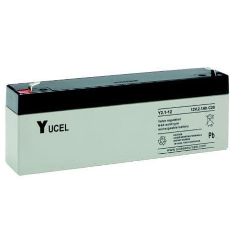 Y2.1-12 Yucel 12v 2.1Ah Battery
