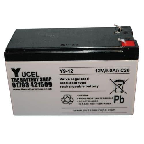Y9-12 Yucel 12v 9Ah Battery