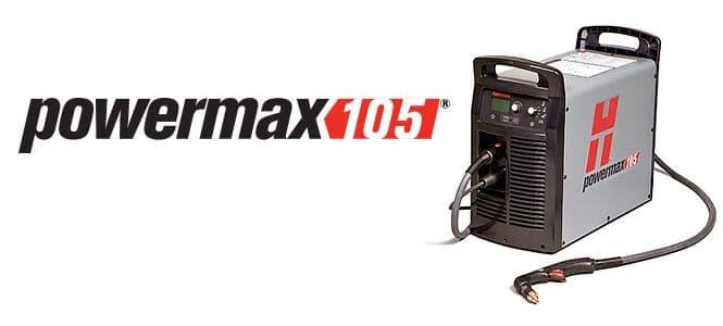 059423 Hypertherm Powermax 105 Plasma cutting machine, 50mm capacity. 2 torches.